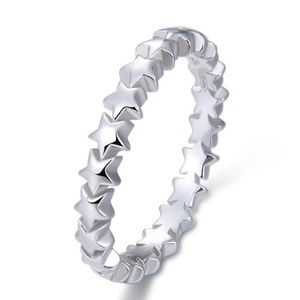 LAST TWO! 925 Sterling Star Eternity Stacking Ring